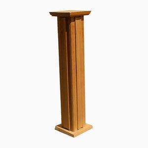 Solid Wood.Pedestal or Column, 1940s