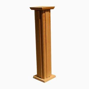 Solid Wood.Pedestal or Column, 1940s