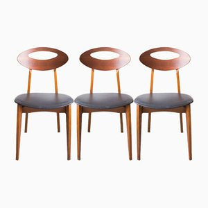 Vintage Stühle von Roger Landault für Sentou, 3er Set