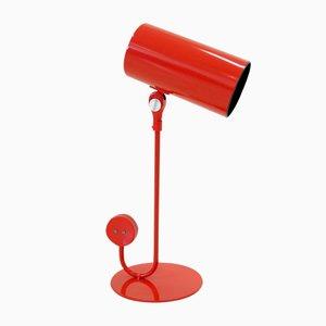 Lámpara de mesa roja de Ateljé Lyktan, años 60