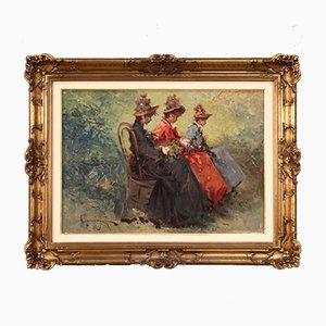 Italienische Malerei im Belle Epoque Stil