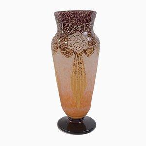 Französische Art Deco Vase von Charles Schneider für Le Verre Francais