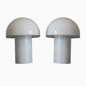 Vintage Onfale Tischlampen von Luciano Vistosi für Artemide, 2er Set