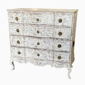 Antique Serpentine Chest of Drawers