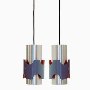 Lámparas colgantes escandinavas, años 60. Juego de 2