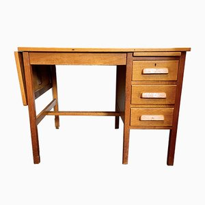 Mid-Century Wooden Extending Desk with Drawers