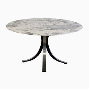 Tavolo da pranzo con ripiano in marmo di Osvaldo Borsani ed Eugenio Gerli per Tecno, 1964