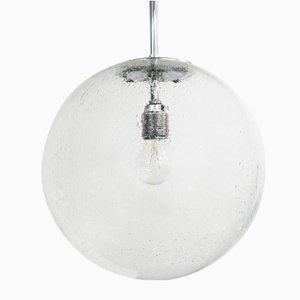 Vintage Glass Ball Lamp from Glashütte Limburg