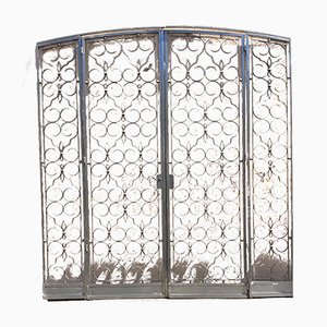 Wrought Iron Double Door by Charles Piguet, Early 1900s
