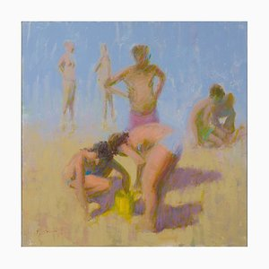 Renato Criscuolo, Giornata D'Estate, Öl auf Leinwand