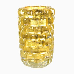 Gold Leaf 24kt Glass Vase the Wall by Made Murano Glass, 2021