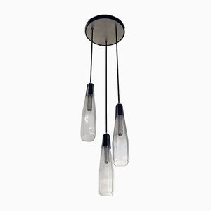 Italian Murano Glass Three-Light Chandelier, 1970s