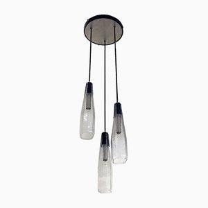 Italienischer Murano Glas Kronleuchter mit Drei Leuchten, 1970er