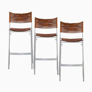 MissB Barstool by Tito Agnoli for Bonacina, 1980s, Set of 3