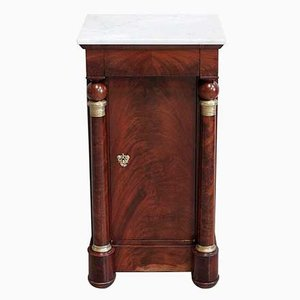 Empire Period Mahogany Veneer Cabinet or Nightstand, 1800s