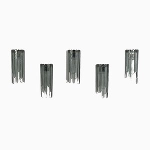 Vintage Cascading Wall Lights by Carlo Nason for Mazzega, Set of 5