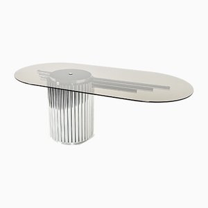 Grande Table en Verre par Gastone Rinaldi, 1970s
