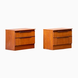 Vintage Scandinavian Chests of Drawers, Set of 2