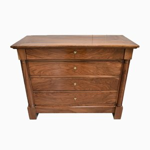 Small Solid Walnut Chest of Drawers, 1800s