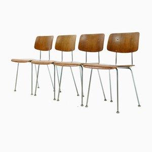 Teak 1263 Esszimmerstühle von AR Cordemeijer für Gispen, 1960er, 4er Set