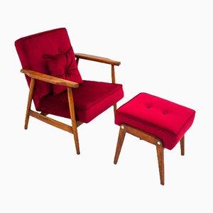 Polnischer Vintage Armlehnstuhl von H. Lis, 1960er, 2er Set