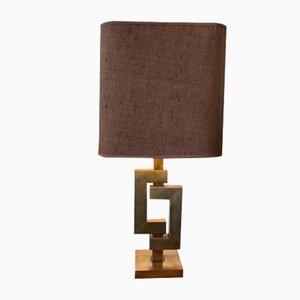 Tischlampe aus Messing im Willy Rizzo Stil