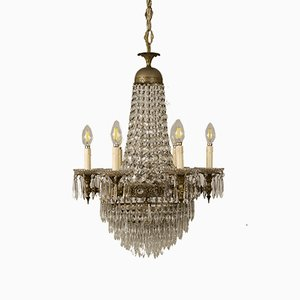 Vintage Empire Style Crystal Chandelier