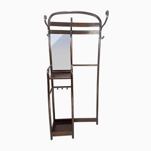 Attaccapanni Art Nouveau con specchio di Thonet