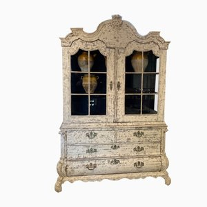 19th Century Dutch Oak Display Cabinet