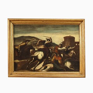 Painting- Ancient Battle- 18th Century