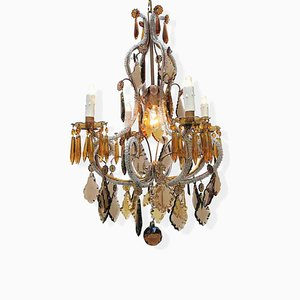 Crystal and Amber Chandelier