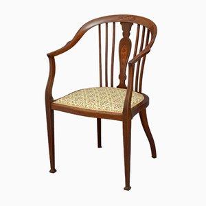Edwardischer Armlehnstuhl aus Mahagoni