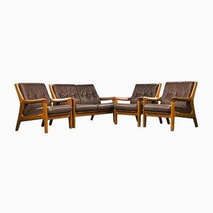 Mid-Century Teak Living Room Set by Gustav Thams for Road Polstermøbelfabrik, Set of 4