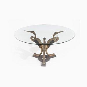 Couchtische aus Vergoldeter Bronze & Glas, 1970er