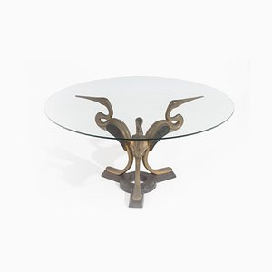 Gilded Bronze & Glass Coffee Tables, 1970s,