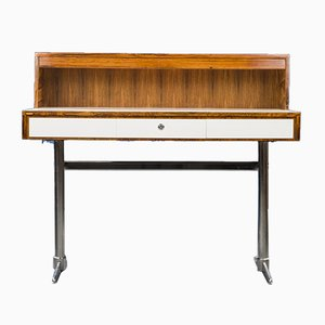 Mid-Century Rosewood and Chrome Desk, 1960s