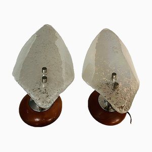 Mid-Century Murano Glass Sconces, Set of 2