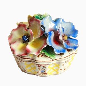 Caja Nigelle italiana vintage de cerámica, años 50