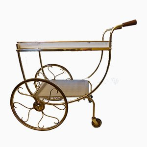 Swedish Brass Serving Cart by Josef Frank for Svenskt Tenn