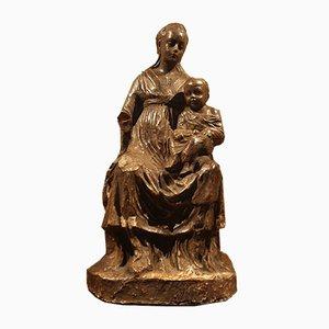 Fin 1700s, Statues Terracotta, Vierge à l'Enfant