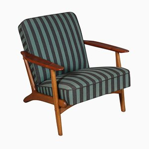 Danish Lounge Chair in Teak and Oak, 1960s