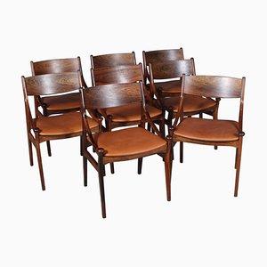 Esszimmerstühle von Vestervig Eriksen, 8er Set