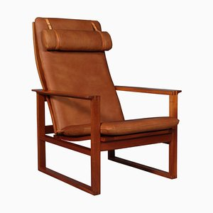 Model 2254 Mahogany Sled Chair by Børge Mogensen, 1956