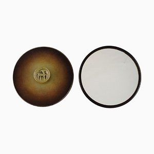 Art Deco Hand Mirrors in Bronze by Hans Bergström for Ystad Brons, 1940s, Set of 2