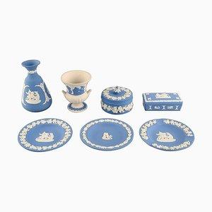 Set de Vaisselle & Vase de Wedgwood, Angleterre, Set de 7