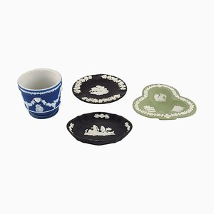 Tableware & Flowerpot Set from Wedgwood, England, Early 20th-Century, Set of 4