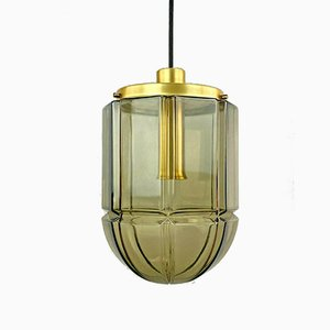 Space Age Glass Hanging Lamp from Peill & Putzler, 1960s