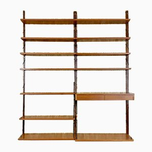 Danish Teak Wall Unit by Poul Cadovius for Cado