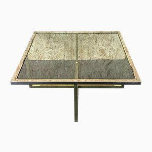 Coffee Table in Brass and Chrome, 1960s
