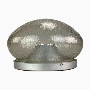 Space Age Glass Flush Mount, 1960s